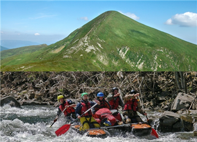 Rafting Black Cheremosh and climbing Hoverla. Ukraine
