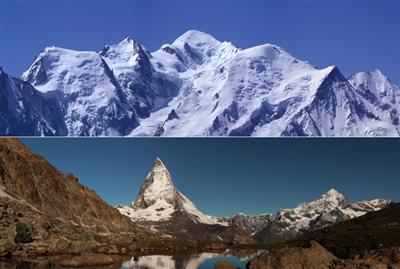 Восхождение на Монблан (4810 м) и Маттерхорн (4478 м)